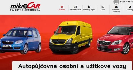 Mikrocar autopůjčovna Hradec Králové